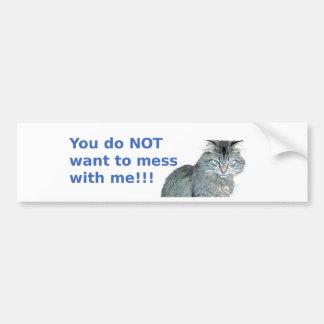 Annoyed Cat with Attitude Bumper Sticker