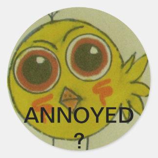 annoyed? classic round sticker