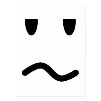 Annoyed Face Postcard