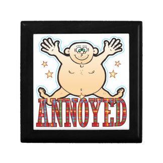 Annoyed Fat Man Keepsake Box