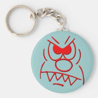 annoyed furious key chain