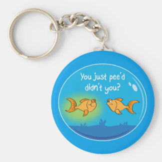 Annoyed Goldfish Basic Round Button Keychain