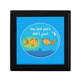 Annoyed Goldfish Jewelry Box