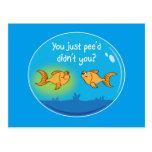 Annoyed Goldfish Postcard