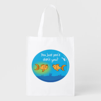 Annoyed Goldfish Reusable Grocery Bags