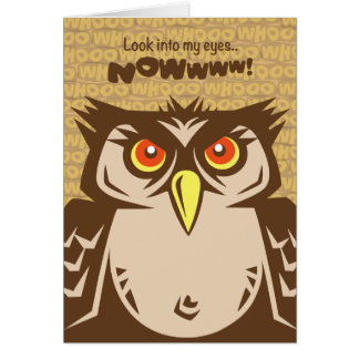 Annoyed Owl get Well Card