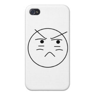 Annoyed Smiley Cases For iPhone 4
