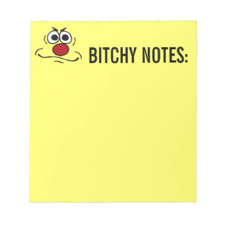 Annoyed Smiley Face Grumpey Note Pad