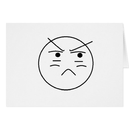 Annoyed Smiley Greeting Card