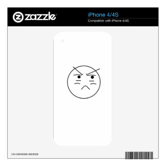 Annoyed Smiley iPhone 4 Skins