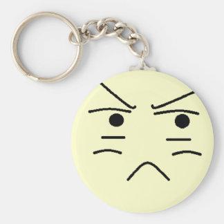 Annoyed Smiley Key Chains