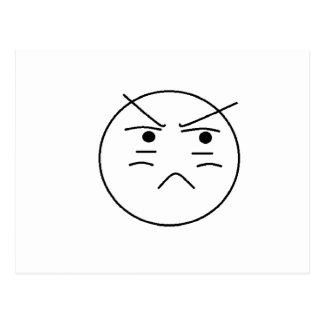 Annoyed Smiley Postcard