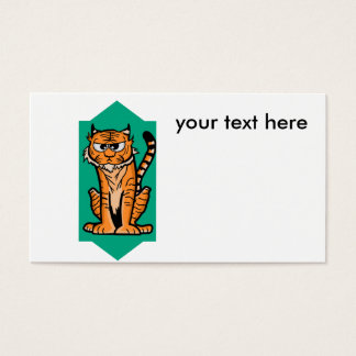 Annoyed Tiger Business Card