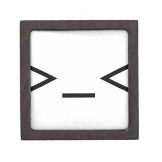Annoyed / Troubled emoticon >_< Gift Box