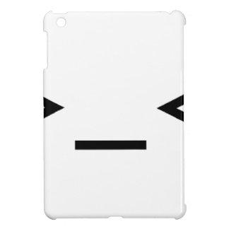 Annoyed / Troubled emoticon >_< iPad Mini Cases