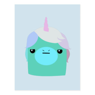 Annoyed Unicorn Postcard