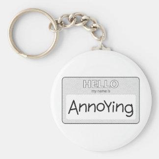 annoying 002 basic round button keychain