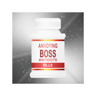 Annoying boss concept. canvas print