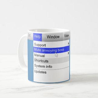 Annoying boss concept. coffee mug