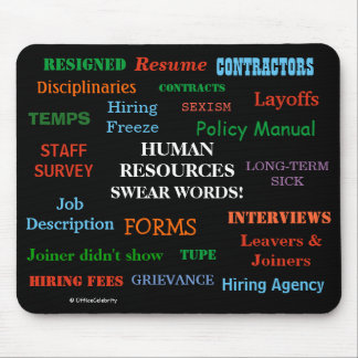 Annoying But Funny Human Resources HR Joke Gift Mouse Pad