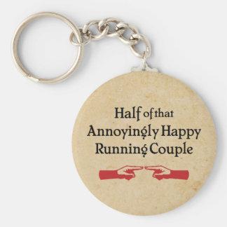 Annoying Running Couple Basic Round Button Keychain