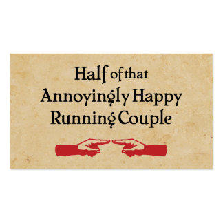 Annoying Running Couple Double-Sided Standard Business Cards (Pack Of 100)