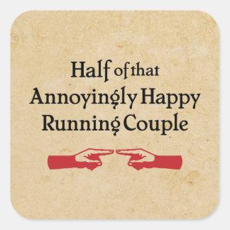 Annoying Running Couple Square Sticker