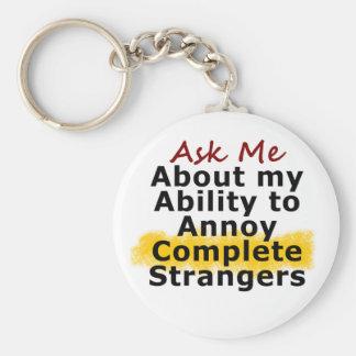Annoying Strangers Keychain