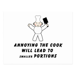 Annoying The Cook Postcard