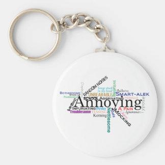 Annoying word cloud keychain