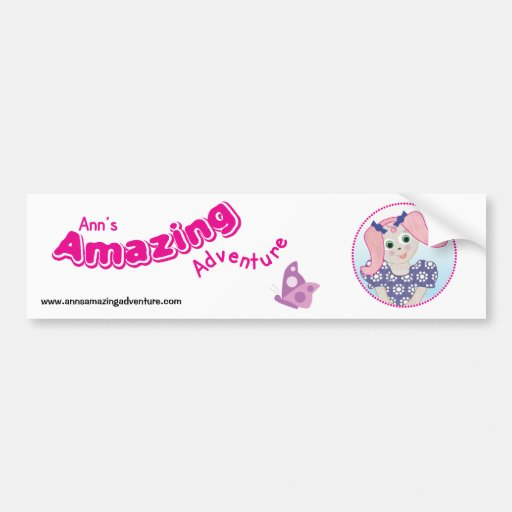 Ann's Amazing Adventure Sticker Bumper Stickers