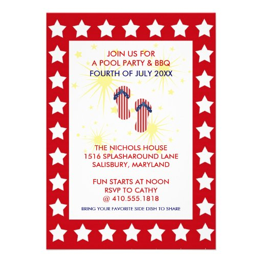Annual 4th of July Party Invitations