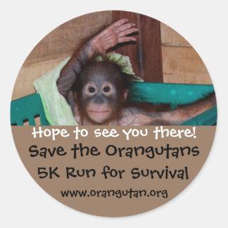 Annual Animal Charity 5k Run Classic Round Sticker