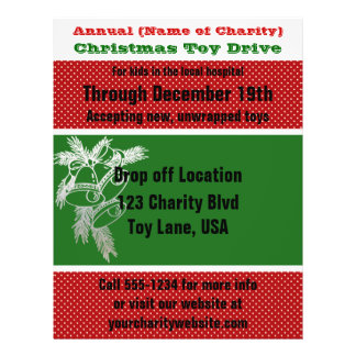 Annual Charity Christmas Toy Drive Silver Bells Flyer