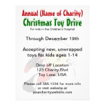 Annual Christmas Toy Drive Santa Claus Charity Flyer