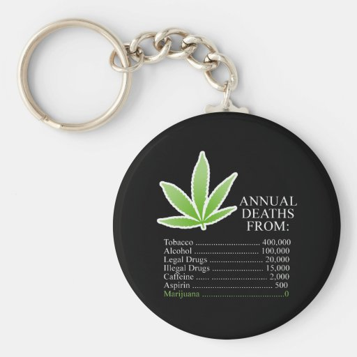 Annual Deaths from drugs Keychain