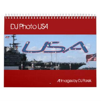 Annual DJ Photo USA wall calendar