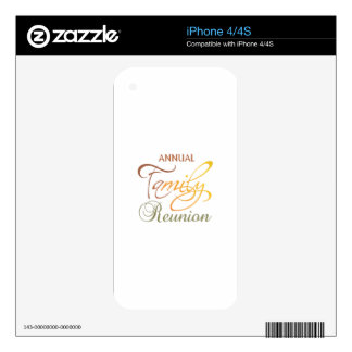 Annual Family Reunion Skins For iPhone 4S