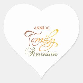 Annual Family Reunion Heart Sticker