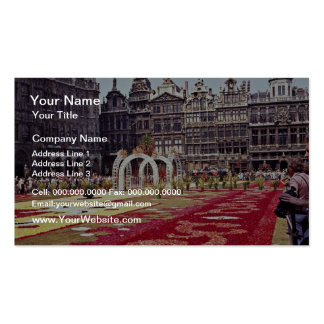 Annual Flower Festival at La Grande Place, Brussel Double-Sided Standard Business Cards (Pack Of 100)