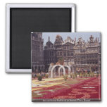 Annual Flower Festival at La Grande Place, Brussel 2 Inch Square Magnet