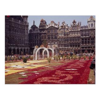 Annual Flower Festival at La Grande Place, Brussel Postcard