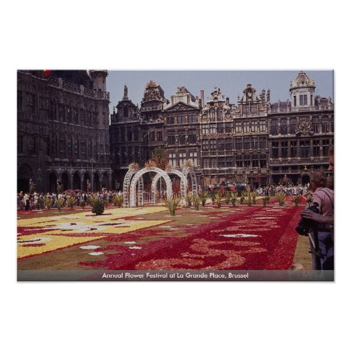 Annual Flower Festival at La Grande Place, Brussel Poster