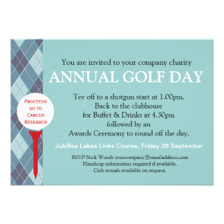 Annual Golf day corporate group event invitation