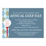 "Annual Golf day corporate group event invitation 4.5"" X 6.25"" Invitation Card"