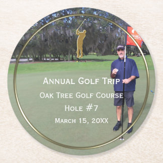 Annual Golf Trip Photo Keepsake Coasters