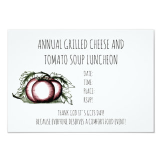 Annual Grilled Cheese Tomato Soup Luncheon Invite