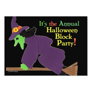 Annual Halloween Block Party Invitation