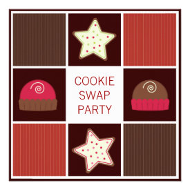 Annual Holiday Cookie Swap Party Invitations