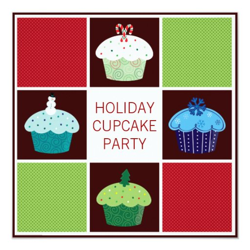 Annual Holiday Cupcake Party Invitations